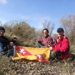 L'apéro avec le drapeau de la Lorraine au premier plan